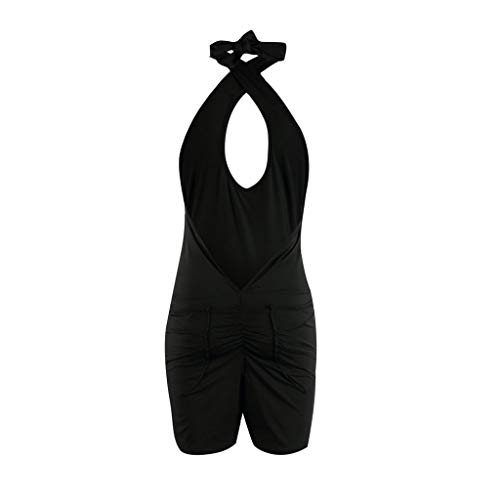 BBT-Shop Womens Sexy Halter Sheath Hollow Out Cultivate Sleeveless Summer Off Shoulder Jumpsuit ()