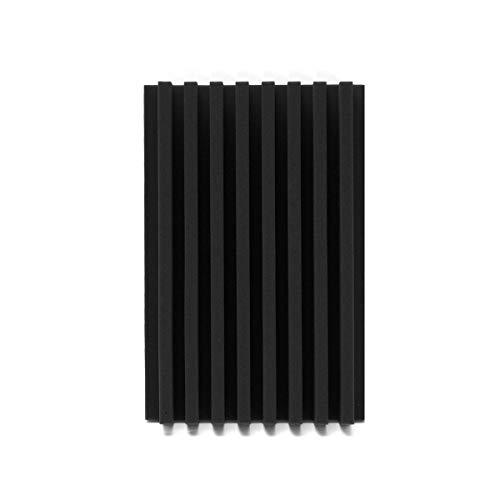 (120x30x7.5cm Acoustic Wedge Studio Soundproof Panel Foam Board Sponge - Raw Materials Foam - (Black) - 1 x Acoustic Foam Set)