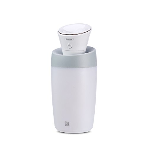 Remax Cool Mist Humidifier Auto Shut-off, Mini Humidifier Whisper-quiet, Ultrasonic Cool Air Humidifiers for Babies Bedroom, USB Powered Humidifiers for Car-white