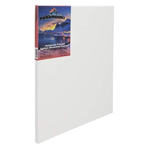 Paramount 9x12 Pre Stretched Canvas for Painting - Professional Triple Primed Cotton - 11/16