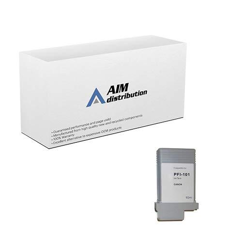 AIM Compatible Replacement for Canon PFI-101PC Photo Cyan Wide Format Inkjet (130 ML) (0887B001AA) - - Photo Pfi 101pc