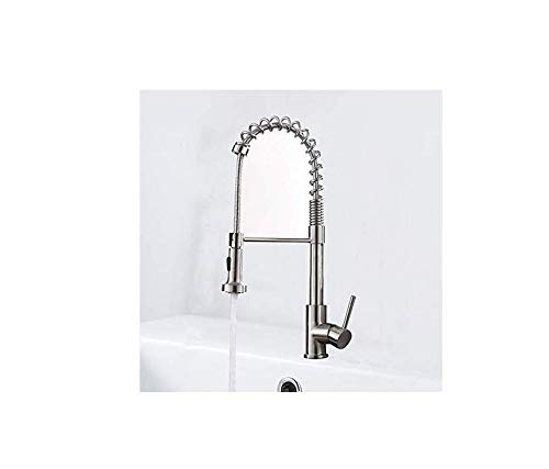 Water Taptaps Faucet Kitchen Sink Dish Plated Spring Faucet Brushed Pullable redating Kitchen Faucet Sink Sink Faucet
