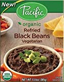 PACIFIC FOODS BEANS BLK REFRIED VEGTRN, 13.6 OZ