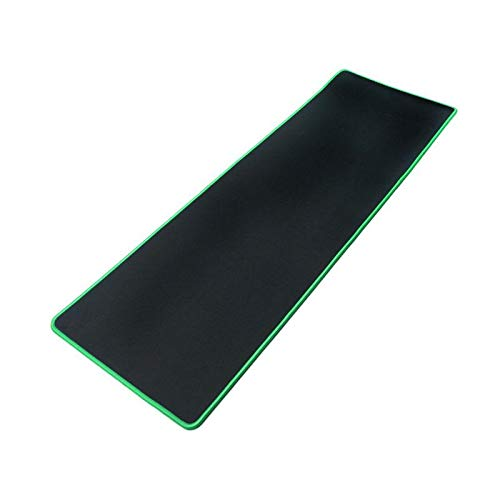 Large Gaming Mouse Pad Extended Mat Non-Slip Desk Pad Rubber Mice Pads Stitched Edges Long Mousepad 23.5x11.6 Green