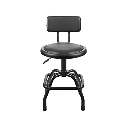 WinPlus ultra cushioned shop stool with deluxe backseat Cushioned Swivel Stool