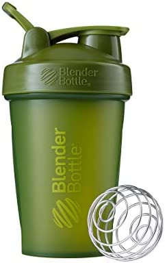 BlenderBottle Classic Shaker Bottle Perfect for Protein Shakes and Pre Workout, 20-Ounce, Moss Green/Moss Green