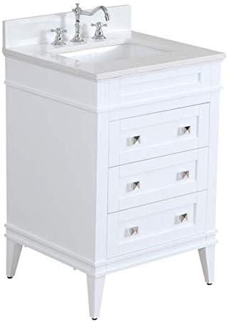 Amazon Com Eleanor 24 Inch Bathroom Vanity Quartz White