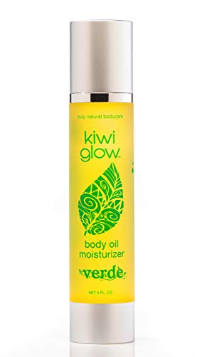 Kiwi Glow Daily Skin Oil Moisturizer - Organic and All Natural - Handmade Skin Care for Anti Aging - Cold Pressed Sesame Oil for Skin - Ayurvedic Skin Treatment (verde)