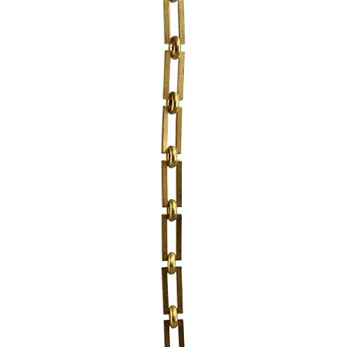 RCH Hardware CH-01-AD-3 Decorative Acid Dipped Solid Brass Chain for Hanging, Lighting - Rectangular Square Edge and Unwelded Links (3 ft/1 Yard)