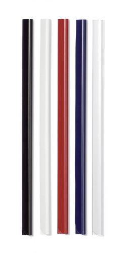 Durable 293001 Klemmschiene A4, für circa 30 Blatt, schwarz, Packung à 50 Stück