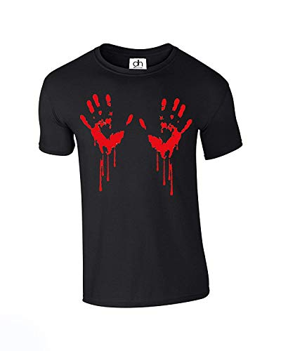 Bloody Hand Hands Blood Stained Ideal Zombie Halloween Scary Horror Monster Unisex Tshirt