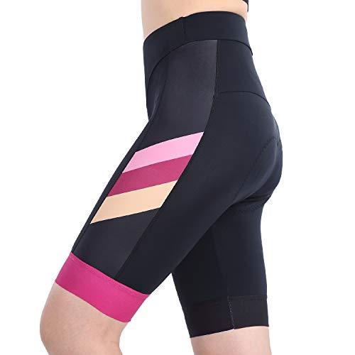 ANIVIVO Women Cycling Shorts Padded &Bicycle Riding Shorts with Anti-Slip Belt &Road Bike Shorts Comfort Tight Biking Shorts for Women(Dark Color,M)