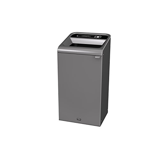 Rubbermaid Commercial Products 1961621 Configure Waste Receptacle Trash Can, Landfill, 23 gal, Grey Stenni