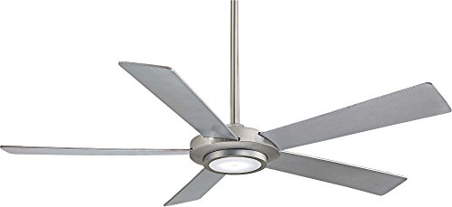"""UPC 706411052613, Minka-Aire F745-BN, Sabot Brushed Nickel 52"""" Ceiling Fan with Light & Remote Control"""