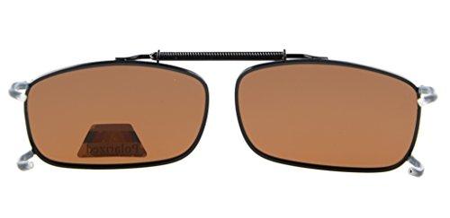 Polarizadas Lente y Clip Montura de con Eyekepper marrón Gafas Metálica Sol C63 zt4xOq