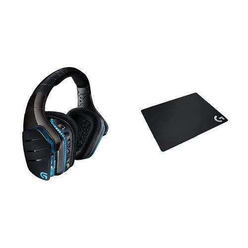 【限定】ゲーミングヘッドセット PC PS4 ロジクール G933d + 【PUBG JAPAN SERIES 2018推奨ギア】ゲーミングマウスパッド G240t クロス のセット B07HK8NK5K ブラック