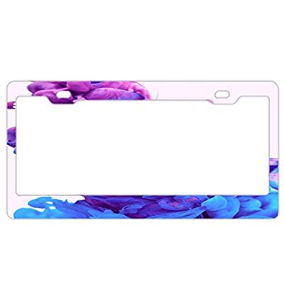 """YEX Abstract Art Alternative License Plate Frame Car License Plate Covers Auto Tag Holder 6"""" x 12"""""""