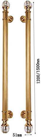Yjie - Tirador de Puerta de Acero Inoxidable Estilo Antiguo Europeo, Tirador de Puerta corredera y empotrada, Cierre de Puerta Resistente (2 Unidades), B, 51×1500mm: Amazon.es: Hogar