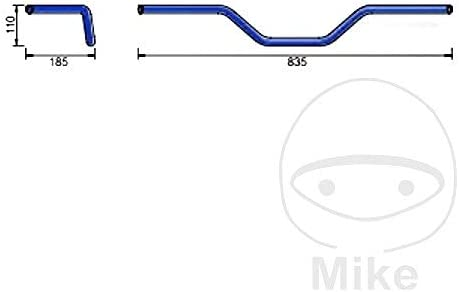 Lsl Lenker Stahl 22mm Flat Track Schwarz 123l014sw 4251342900558 Auto