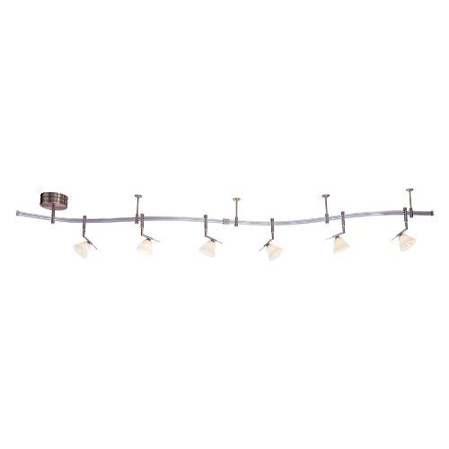 Eight Light Monorail Kit (George Kovacs P4086-1-084, 6 Light Monorail Kite, Brushed)