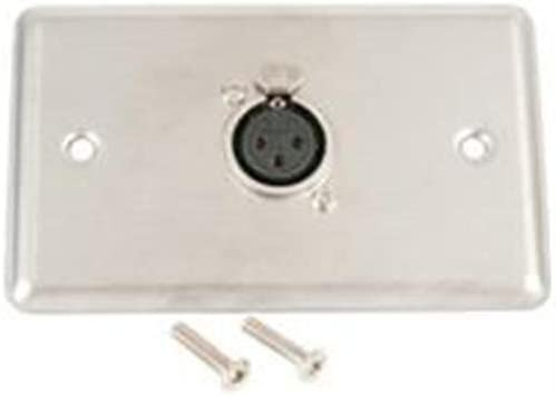 Astatic 40-347 Single Gang Stainless Steel Wall Plate with XLR-F