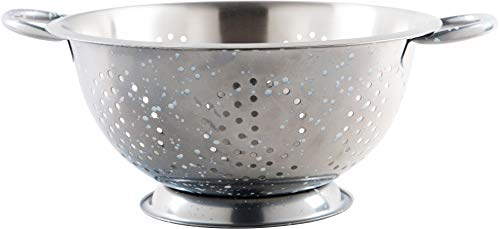 Palais Dinnerware 'Passoire' Collection, Stainless Steel Colander (5 Quart, Grey Speckled)
