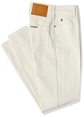 Calça de sarja Bia, Colcci, Feminino, Branco (Off Shell), 40