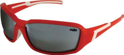 2012 Lazer Xenon Cycling Glasses Matte Red w/ Smoke Silver Lens. by Lazer (Image #2)