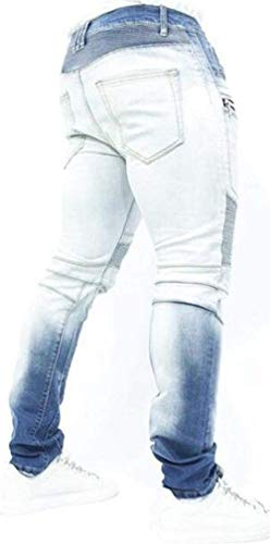 88 Jeans Motocicletta Uomo Pieghevoli Denim Especial Elastic Blue Da Colour Estilo Casual Pants Bobo Straight Skinny Pantaloni wS5dTwq