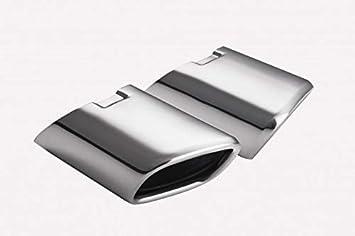 Auspuffblende CARTUNER/® 95x65mm Edelstahl hochgl/änzend