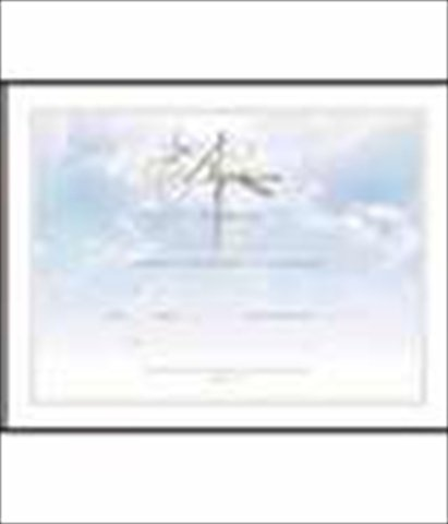 Certificate-Baptism (Cross Gold Foil Embossed) (Pk/6)