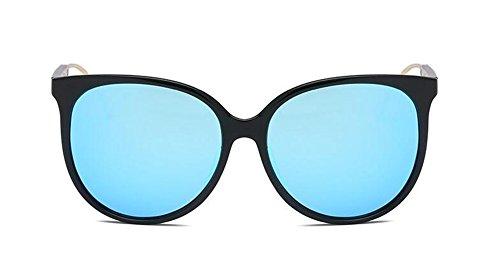 Polarisées Métallique Style Hommes de Pour et Retro Cercle Rond Bleu en du Inspirées Steampunk Femmes Lunettes Glacier Soleil qXExBFBwv
