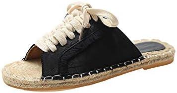 漁師の靴フィッシャーマンキャンバスレディースシューズレディースシューズ刺繍レイジーボードシューズ夏春と秋のメンズシューズペダルデオドラントカジュアル潮シューズ布靴通気性フラットサンダルとSlippersLinenFlatの浅い口の単一の靴フィッシャーマン靴中空シューズ刺繍入りレディースシューズ (Color : Black, Size : 24.5cm)