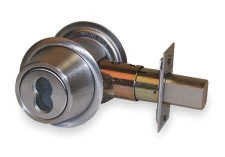 (Falcon/Ingersoll-Rand - D131B 626 - Heavy-Duty Satin Chrome D100-Series Deadbolt, Double-Cylinder )