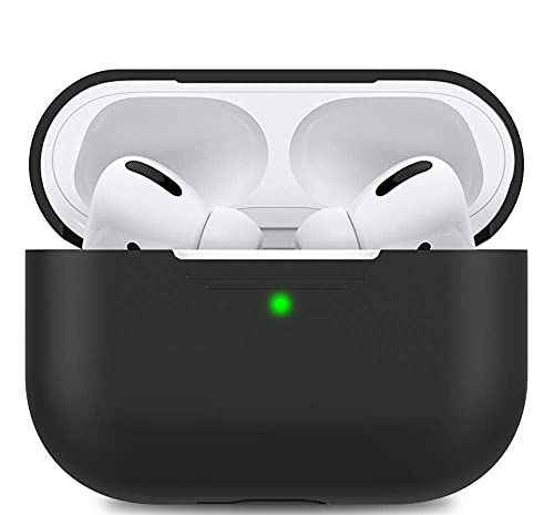 AhaStyle Soft AirPods Pro Case Cover Silicone Compatible with Apple AirPods Pro 2019(Black)
