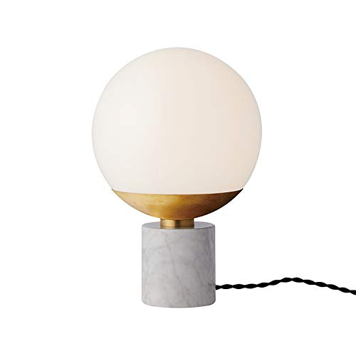 ARTWORKSTUDIO Groove table lamp 白熱球付属モデル AW-0516V (ホワイト+ブラス) B07NLD43FR ホワイト+ブラス