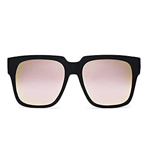 Quay Australia ON THE PROWL Women's Sunglasses Large Bold Square - Black/Pink