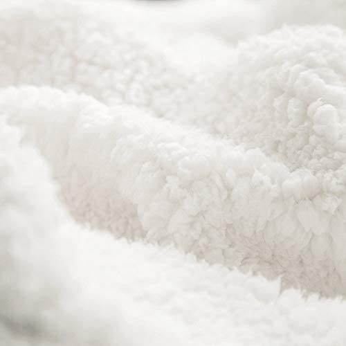 Polyester Blanc 130x150cm NiTIAN Super-Natural PrintedWearable Couverture en Microfibre Douce pour lhiver et la TV