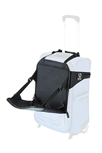 Lugabug Travel Seat, Child Carrier for Luggage (Black/Grey)