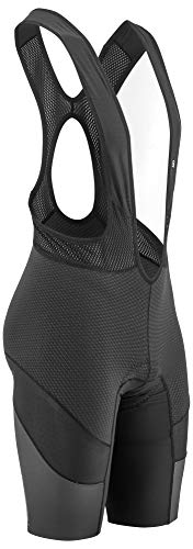 Louis Garneau Men's CB Carbon Lazer Light, Breathable, Padded Compression Cycling Bib Shorts, Black, Large