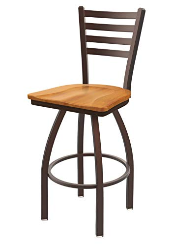 Holland Bar Stool Co. 41025BZMedMpl 410 Jackie Swivel Counter Stool, 25 Seat Height, Medium Maple