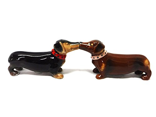 Magnetic Dachshunds Salt and Pepper Shaker
