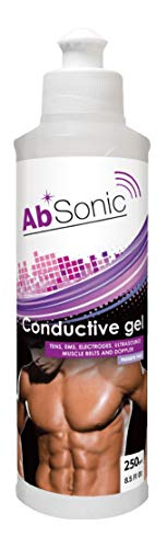 AbSonic - Conductive Gel for Electrodes, TENS & EMS - 250 ml (8.5 oz) - One Bottle