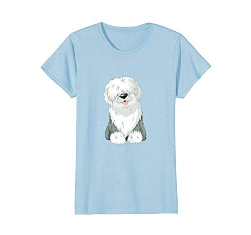 Womens Original Old English Sheepdog Puppy T-Shirt Large Baby Blue