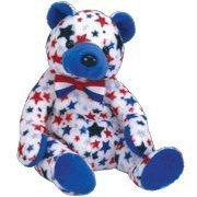 TY Beanie Baby - BLUE the Bear (Internet Exclusive) - Blue Plush Bear
