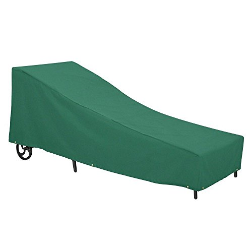 Classic Accessories 55-440-041101-11 Atrium Patio Chaise Lounge Cover, Large, Green by Classic Accessories