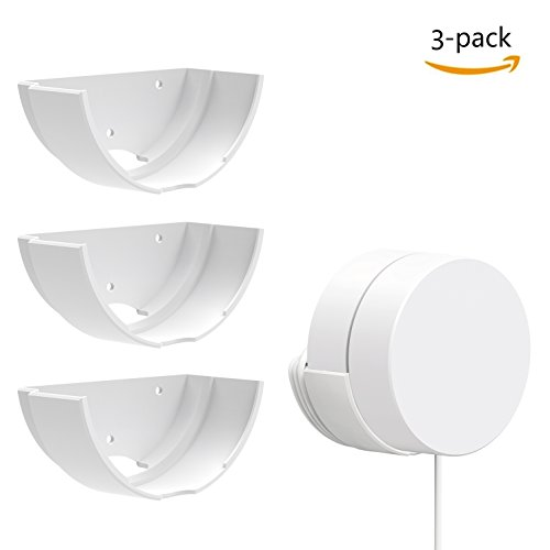 Deeroll Google Wifi Wall Mount Bracket, Fits Snugly to Google Wifi,Best Design for Winding Power Cord,3 Pack