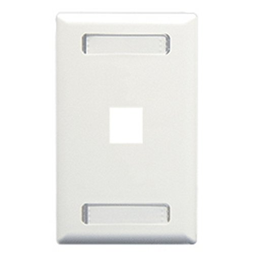 Faceplate- Id- 1-Gang- 1-Port- Ivory
