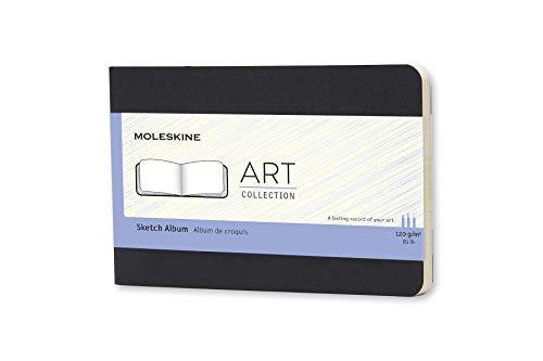 Moleskine Art Sketch Album, Hard Cover, Pocket (3.5 x 5.5) Plain/Blank, Black