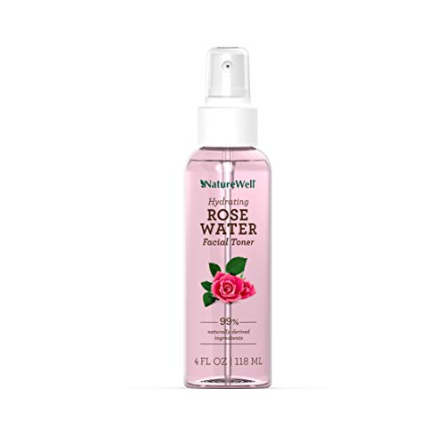 NATUREWELL Hydrating Rose Water Facial Toner Spray, 4 Fl Oz